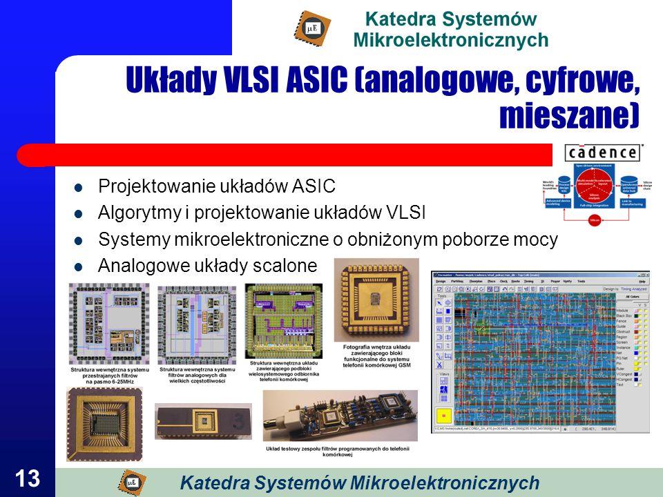Układy VLSI ASIC (analogowe, cyfrowe, mieszane)
