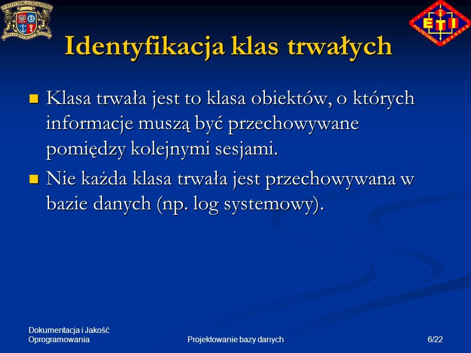 Identyfikacja klas trwałych
