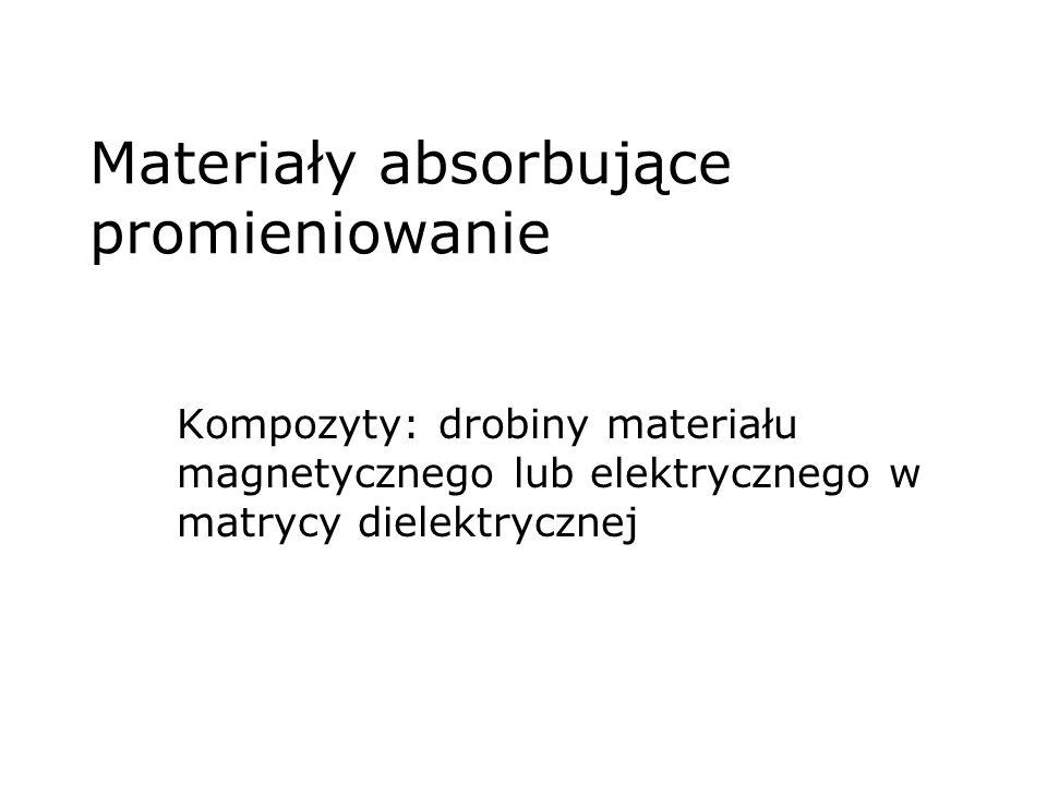 Materiały absorbujące promieniowanie