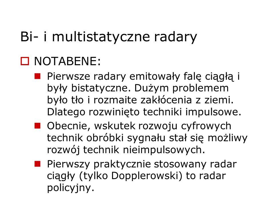 Bi- i multistatyczne radary