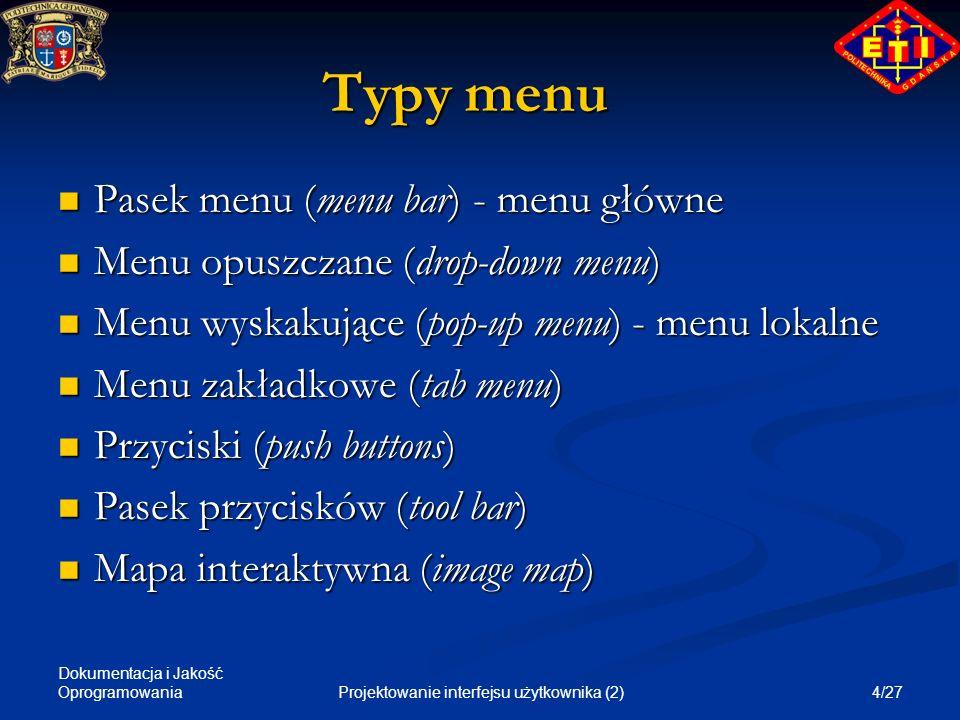 Projektowanie interfejsu użytkownika (2)