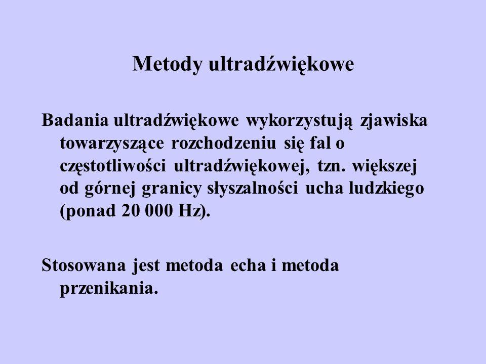 Metody ultradźwiękowe