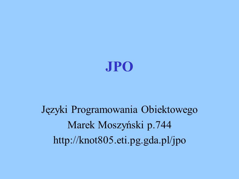 Języki Programowania Obiektowego