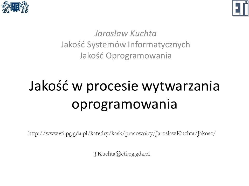 Jakość w procesie wytwarzania oprogramowania