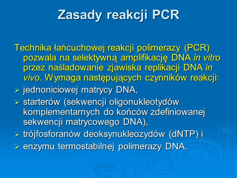 Zasady reakcji PCR