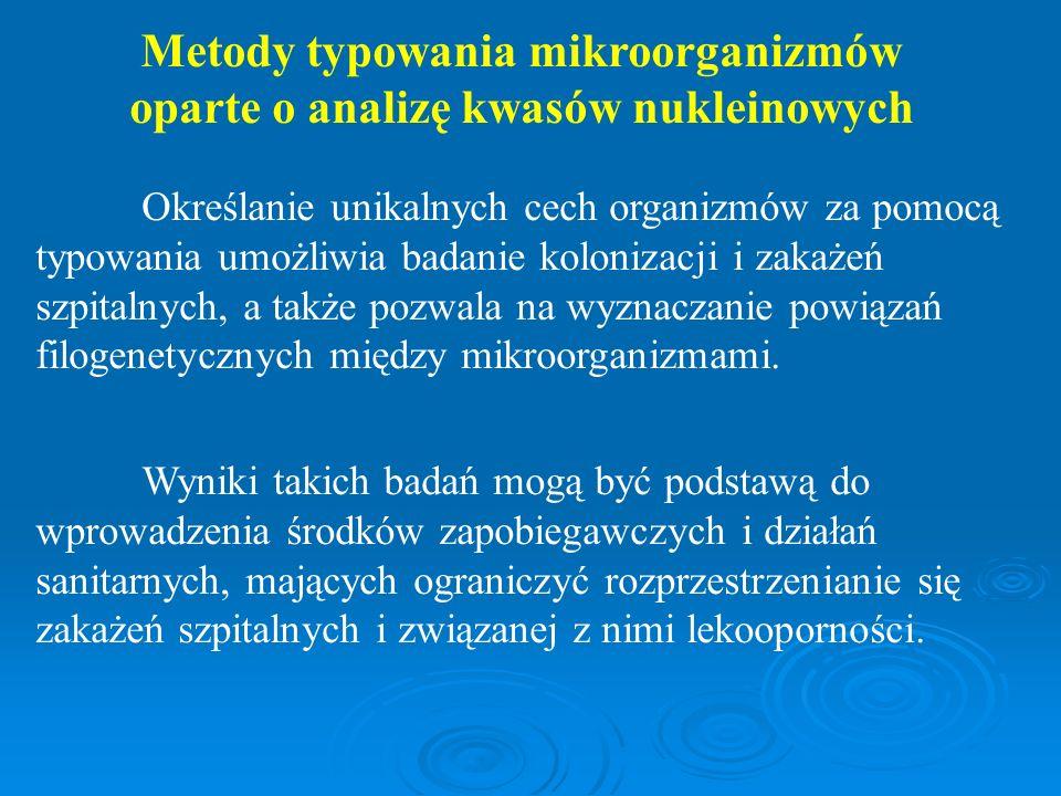 Metody typowania mikroorganizmów oparte o analizę kwasów nukleinowych