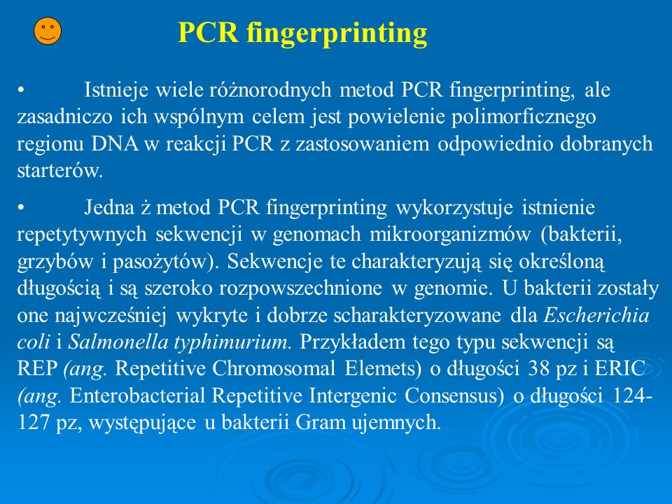 PCR fingerprinting