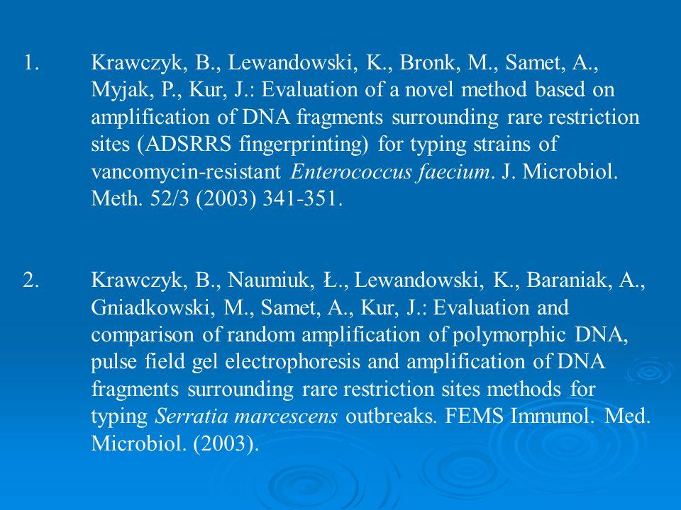 1. Krawczyk, B. , Lewandowski, K. , Bronk, M. , Samet, A. ,. Myjak, P
