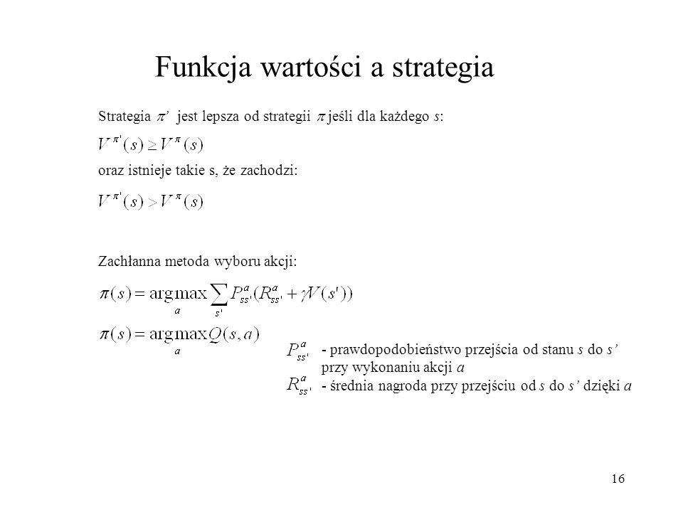 Funkcja wartości a strategia