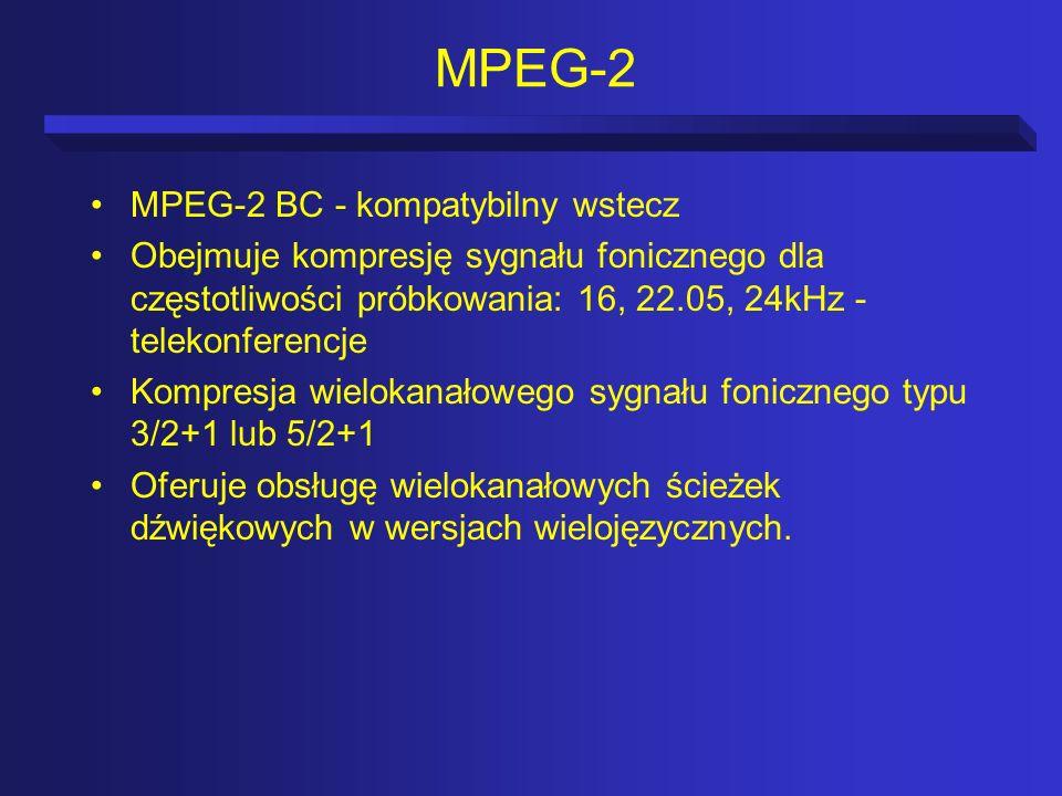 MPEG-2 MPEG-2 BC - kompatybilny wstecz