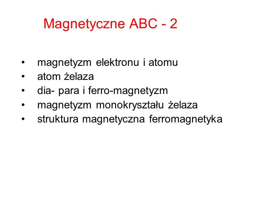 Magnetyczne ABC - 2 magnetyzm elektronu i atomu atom żelaza