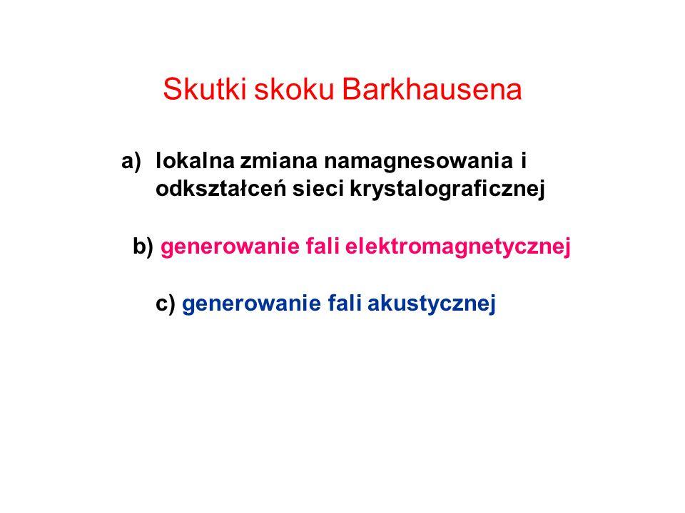 Skutki skoku Barkhausena