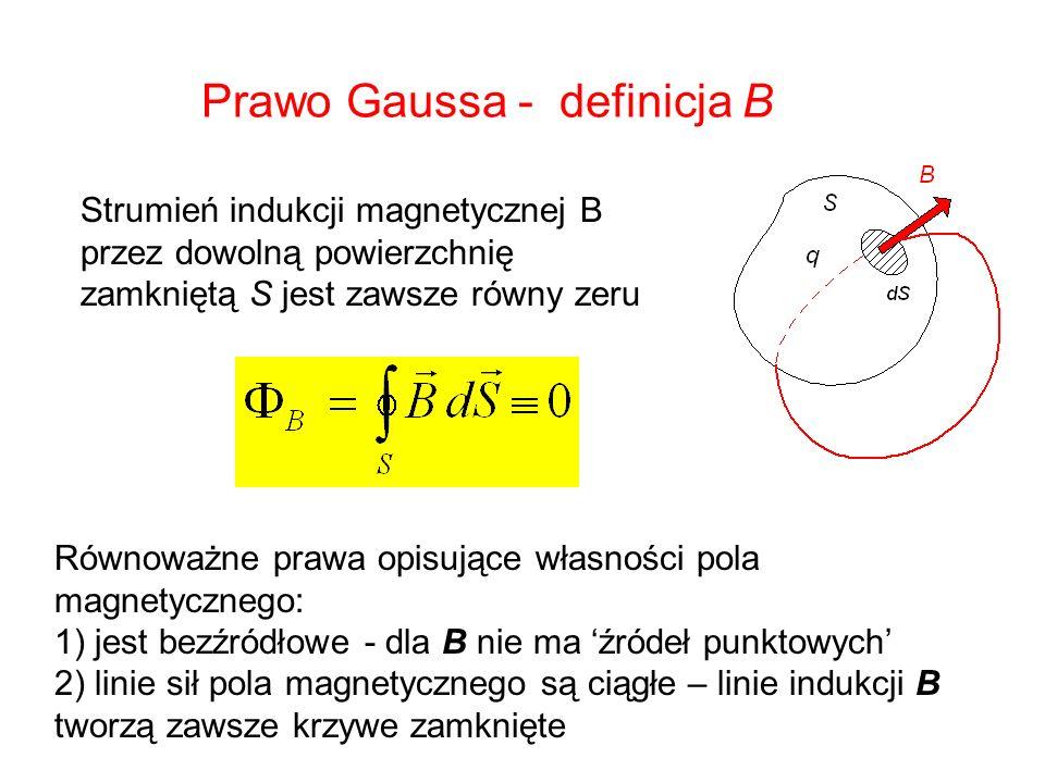 Prawo Gaussa - definicja B