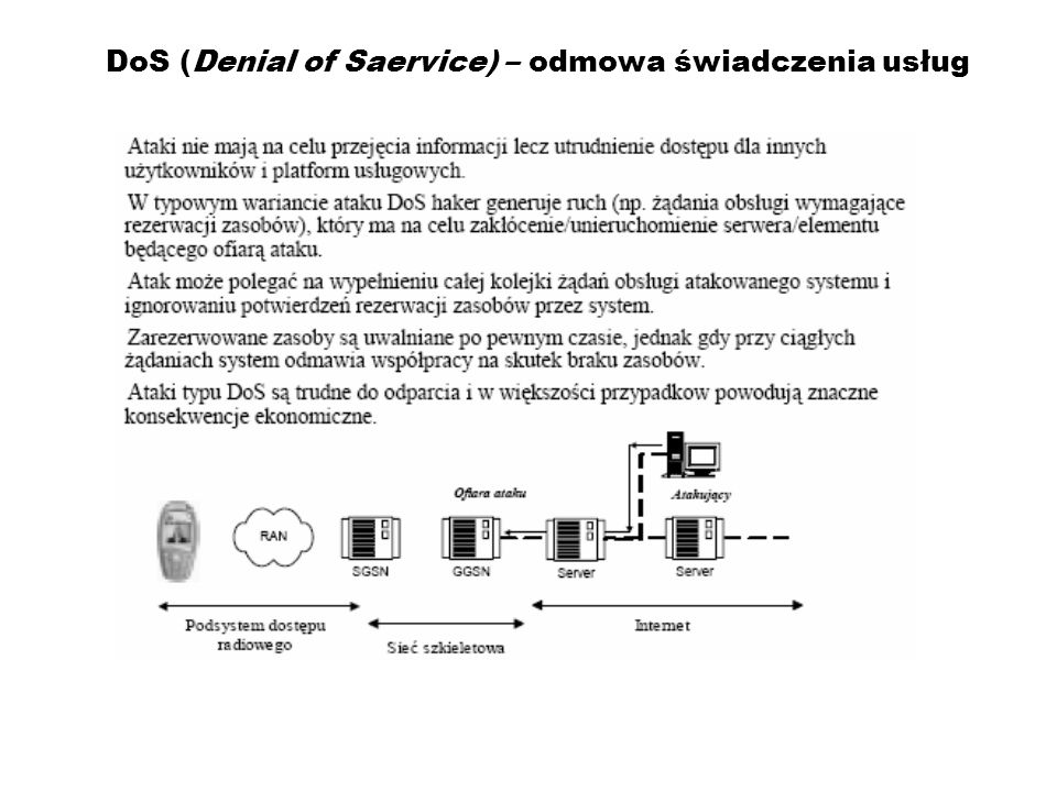 DoS (Denial of Saervice) – odmowa świadczenia usług