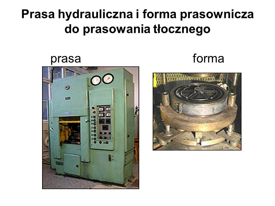 Prasa hydrauliczna i forma prasownicza do prasowania tłocznego