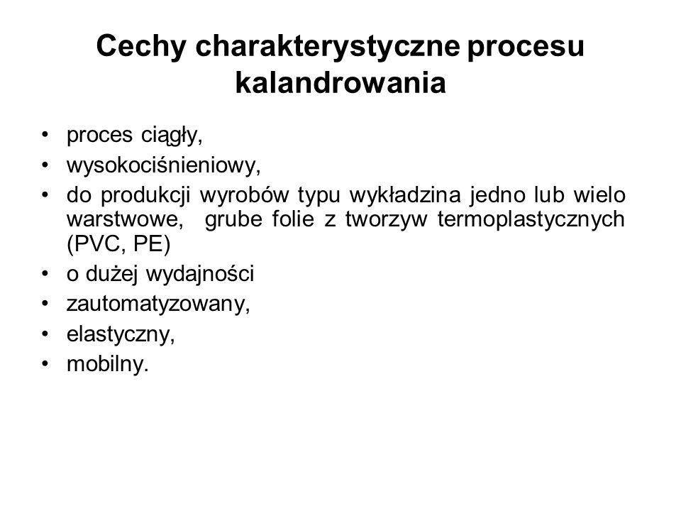 Cechy charakterystyczne procesu kalandrowania