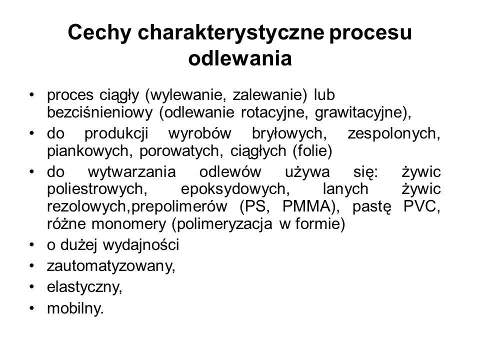 Cechy charakterystyczne procesu odlewania