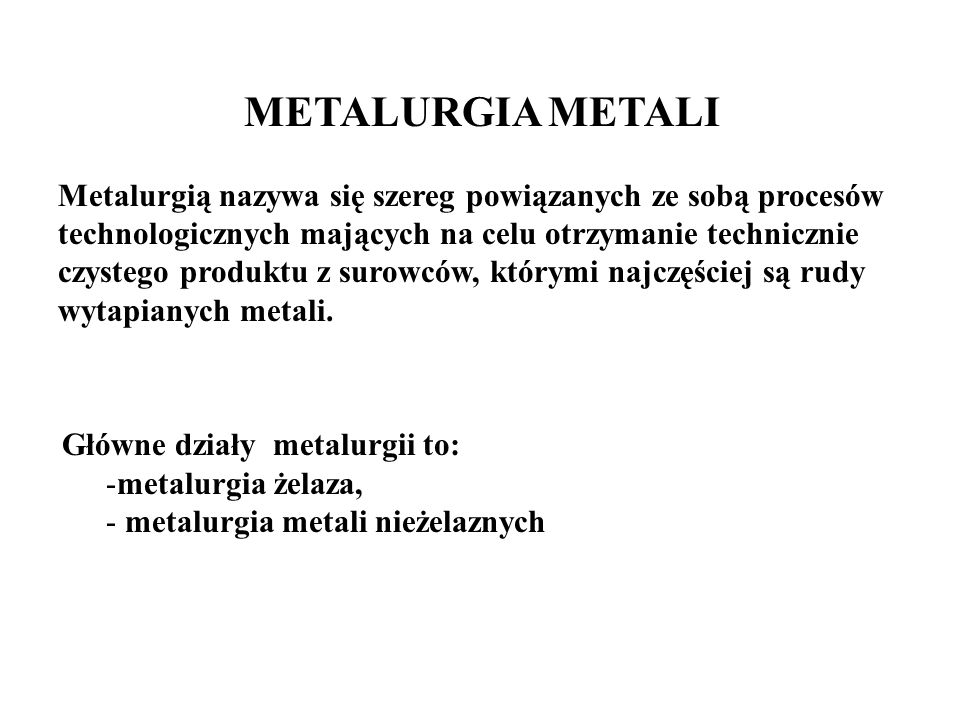 METALURGIA METALI