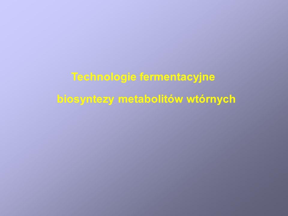Technologie fermentacyjne biosyntezy metabolitów wtórnych