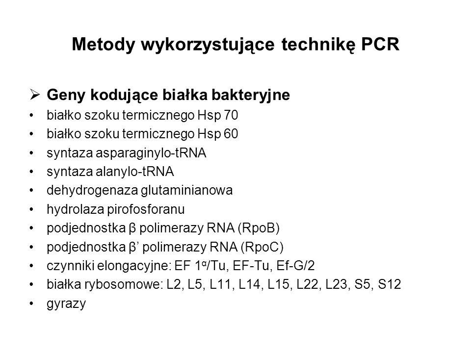 Metody wykorzystujące technikę PCR