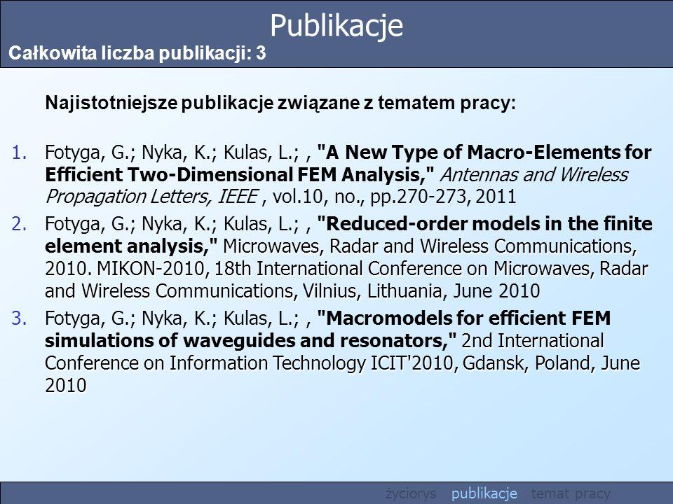 Publikacje Całkowita liczba publikacji: 3