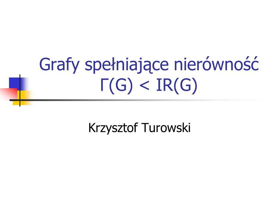 Grafy spełniające nierówność Γ(G) < IR(G)