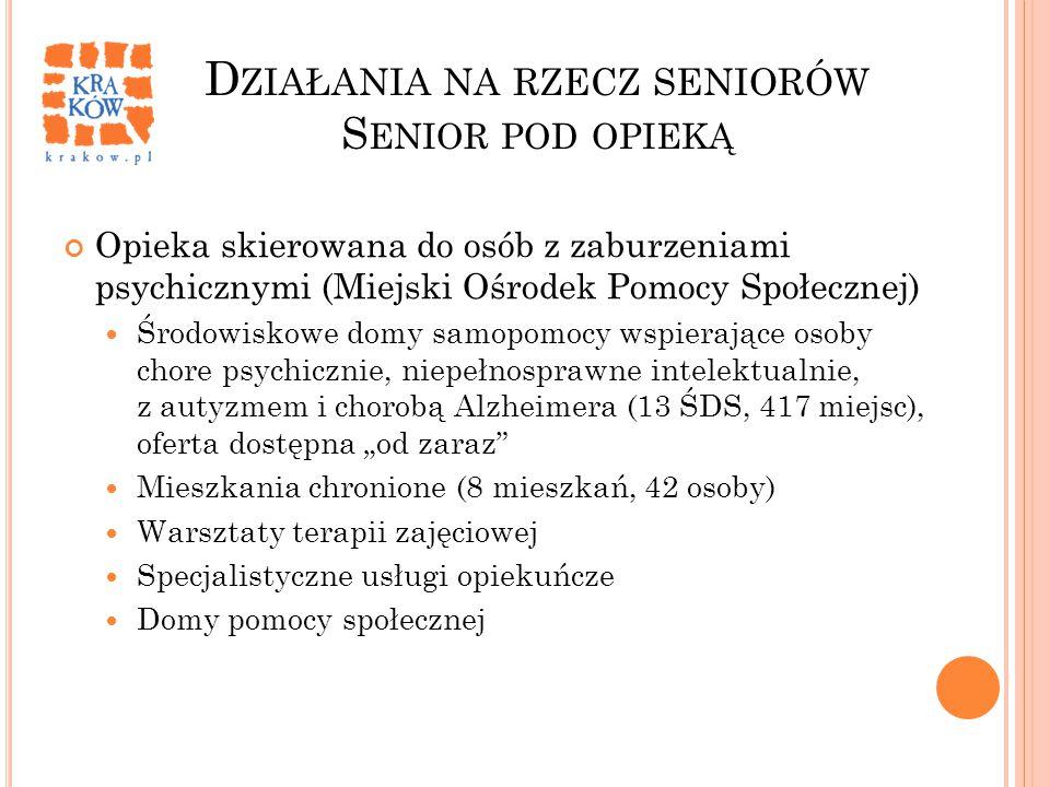 Działania na rzecz seniorów Senior pod opieką