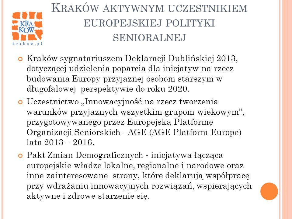 Kraków aktywnym uczestnikiem europejskiej polityki senioralnej