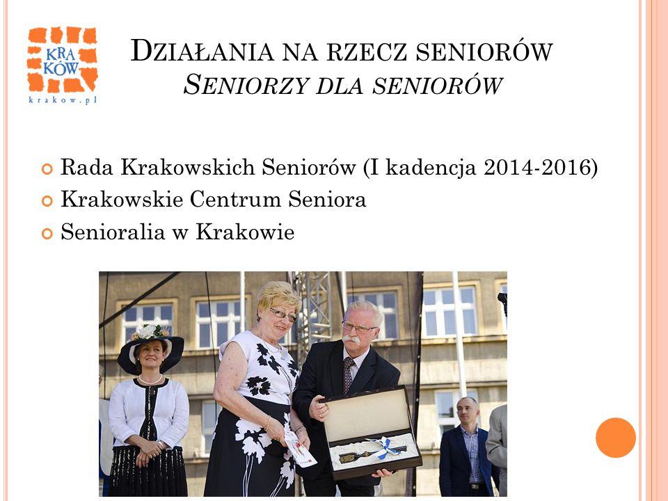 Działania na rzecz seniorów Seniorzy dla seniorów