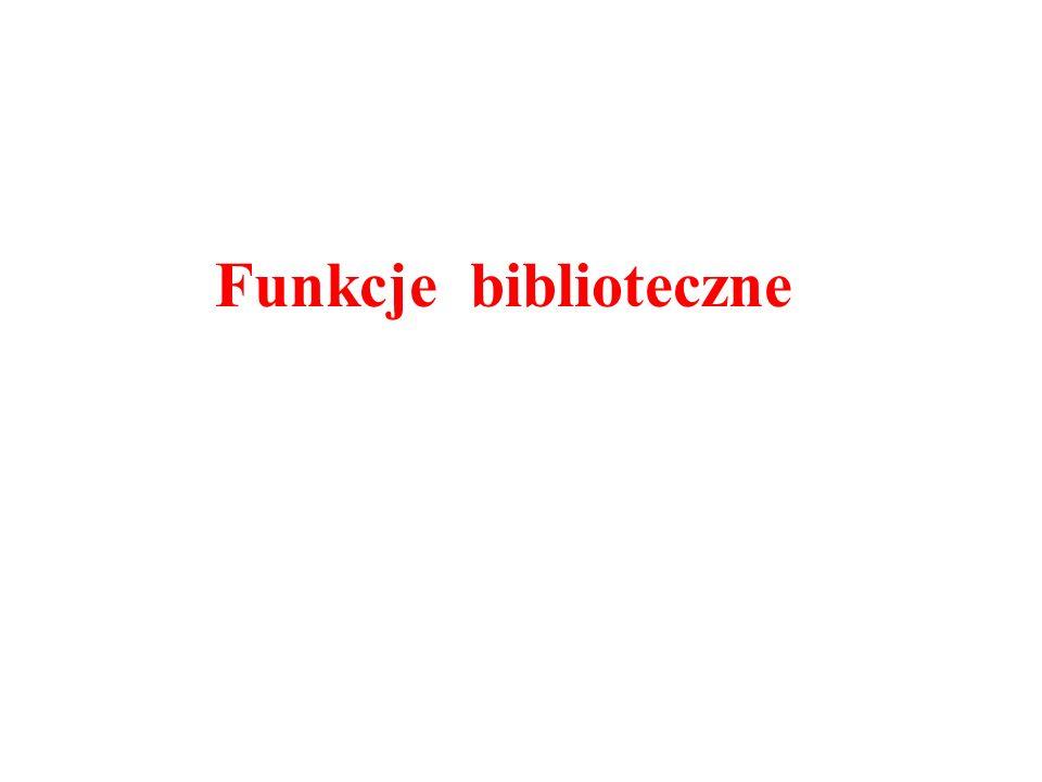 Funkcje biblioteczne
