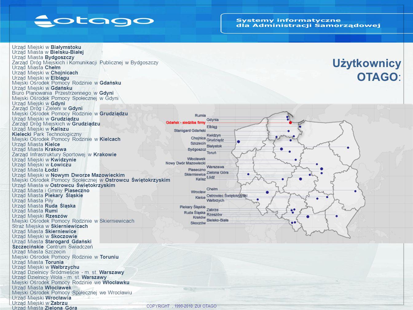 Użytkownicy OTAGO: Urząd Miejski w Białymstoku