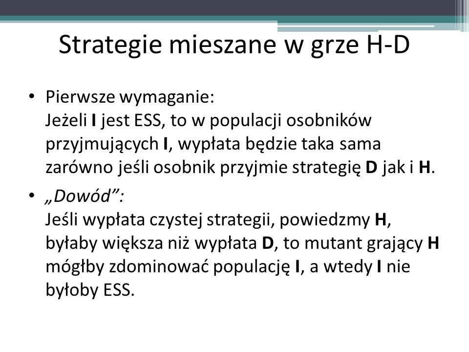 Strategie mieszane w grze H-D