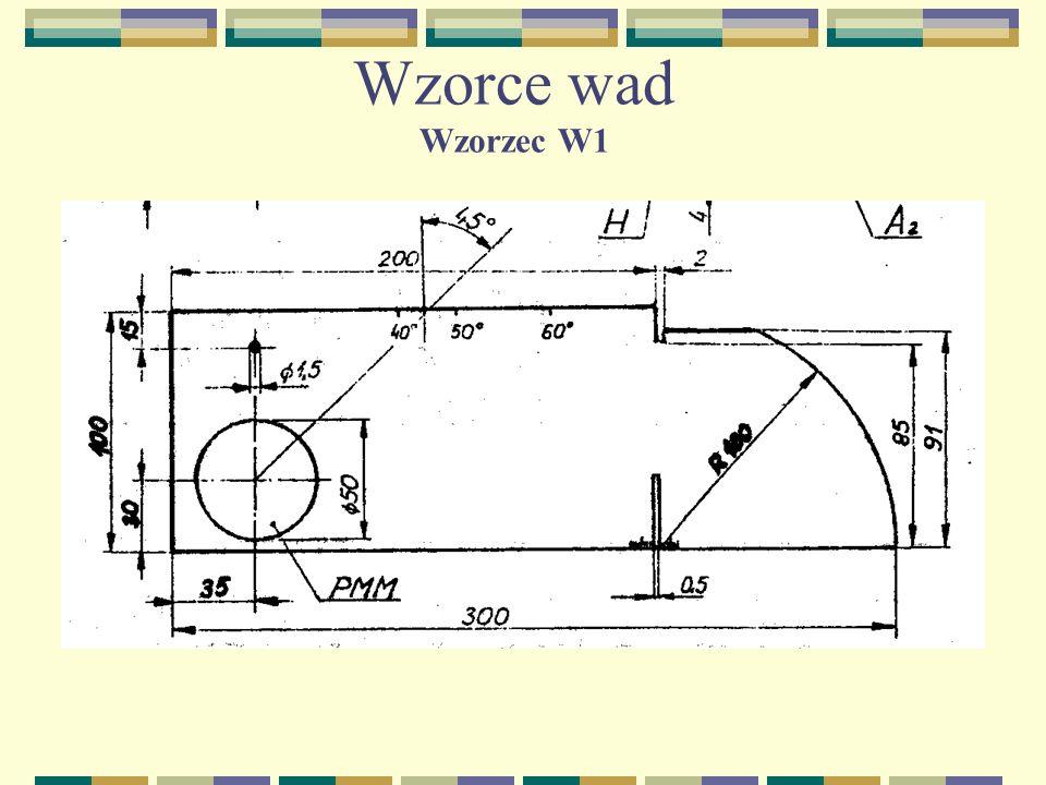 Wzorce wad Wzorzec W1