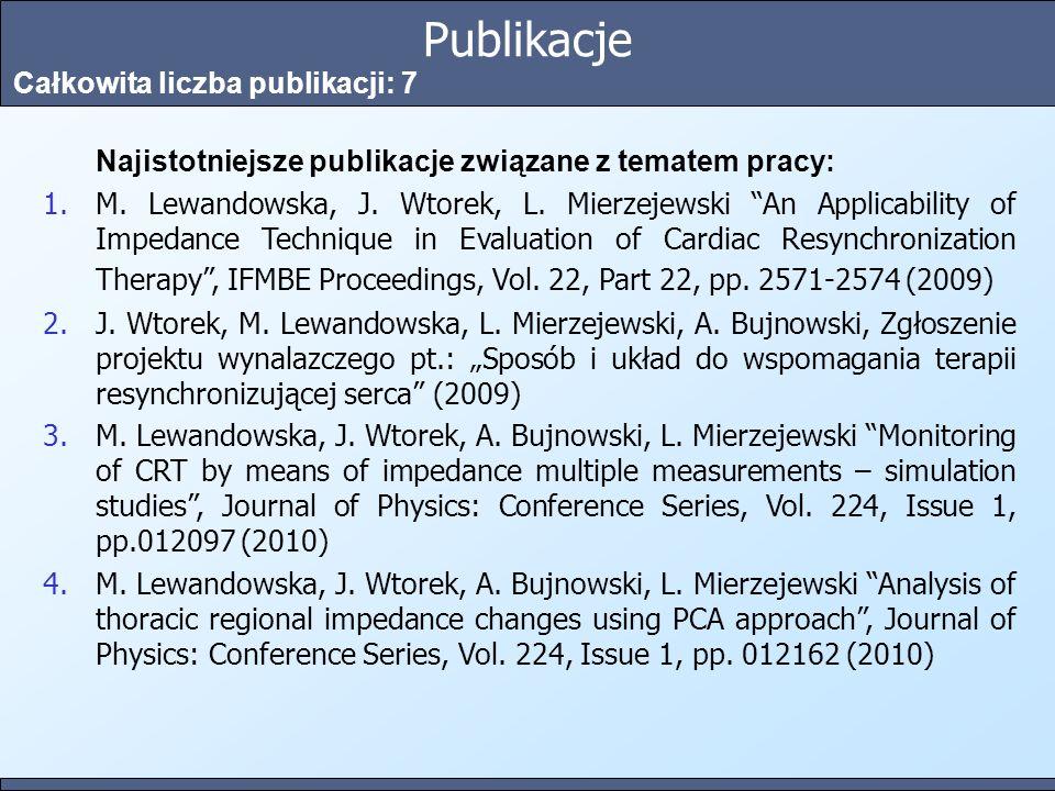 Publikacje Całkowita liczba publikacji: 7