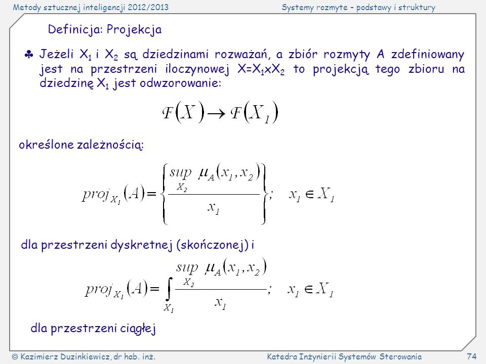 Definicja: Projekcja