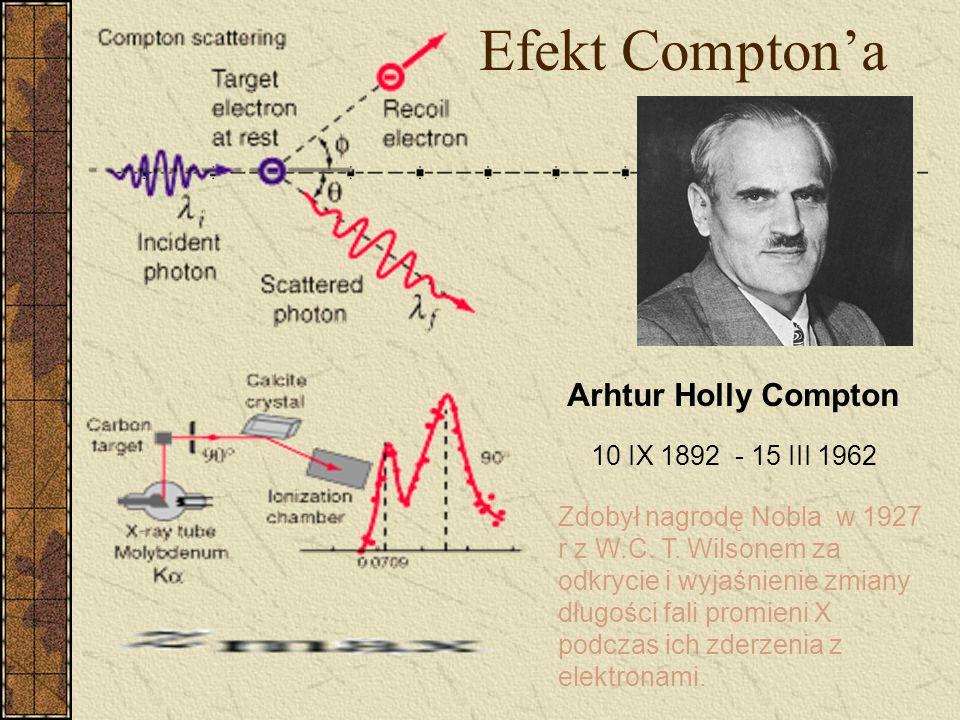 Efekt Compton'a Arhtur Holly Compton 10 IX 1892 - 15 III 1962