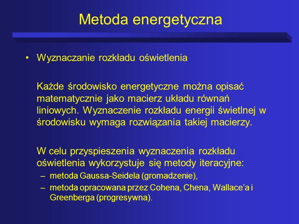 Metoda energetyczna Wyznaczanie rozkładu oświetlenia