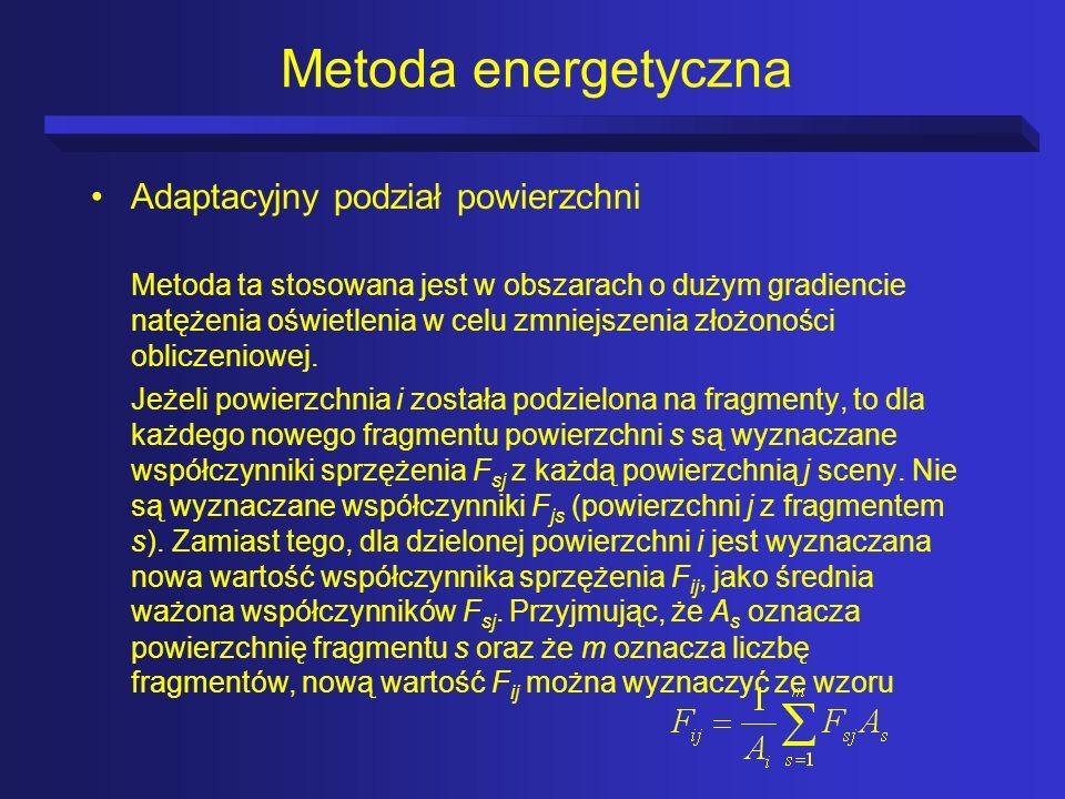 Metoda energetyczna Adaptacyjny podział powierzchni