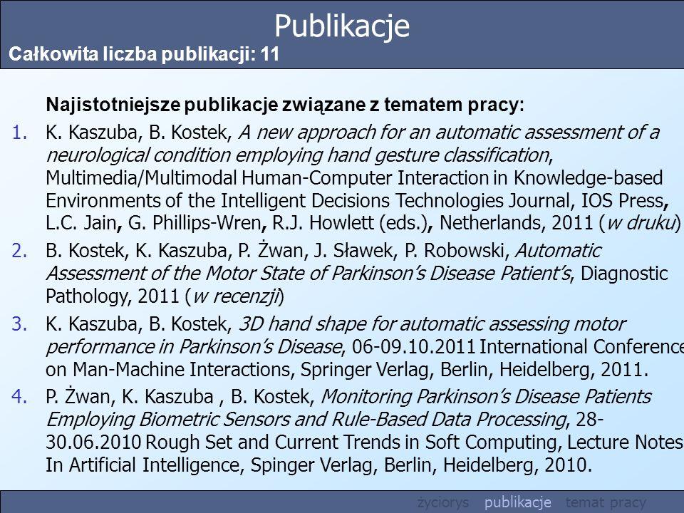 Publikacje Całkowita liczba publikacji: 11