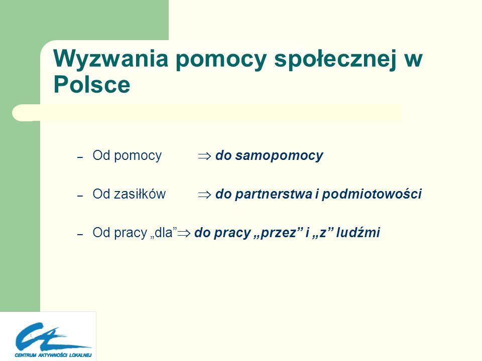 Wyzwania pomocy społecznej w Polsce