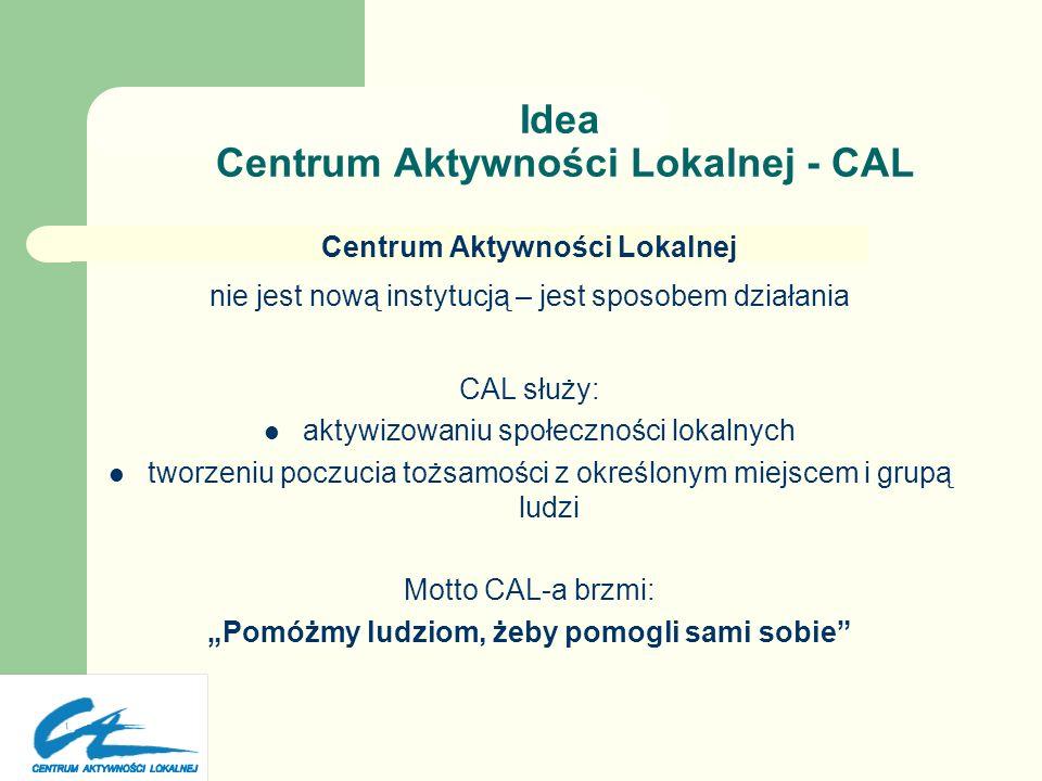 Idea Centrum Aktywności Lokalnej - CAL