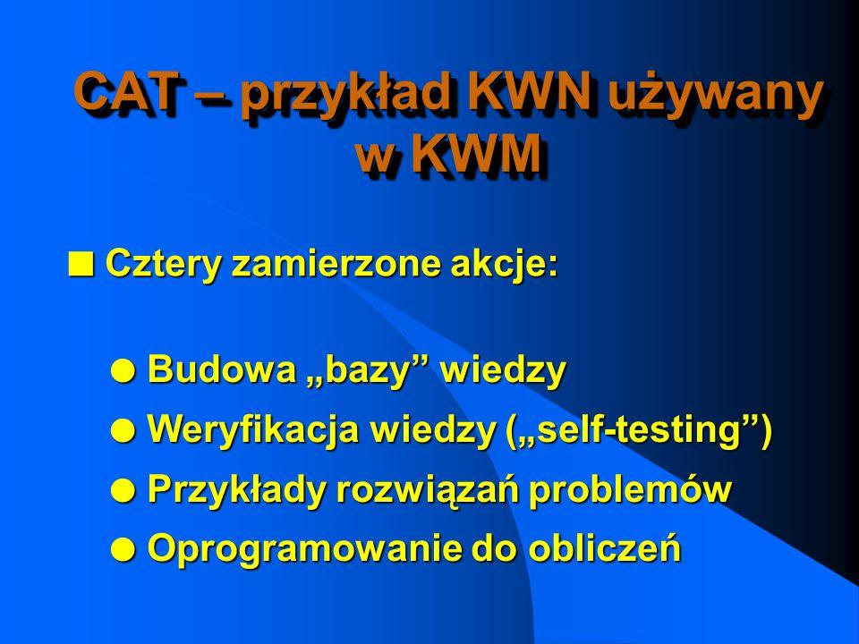 CAT – przykład KWN używany w KWM