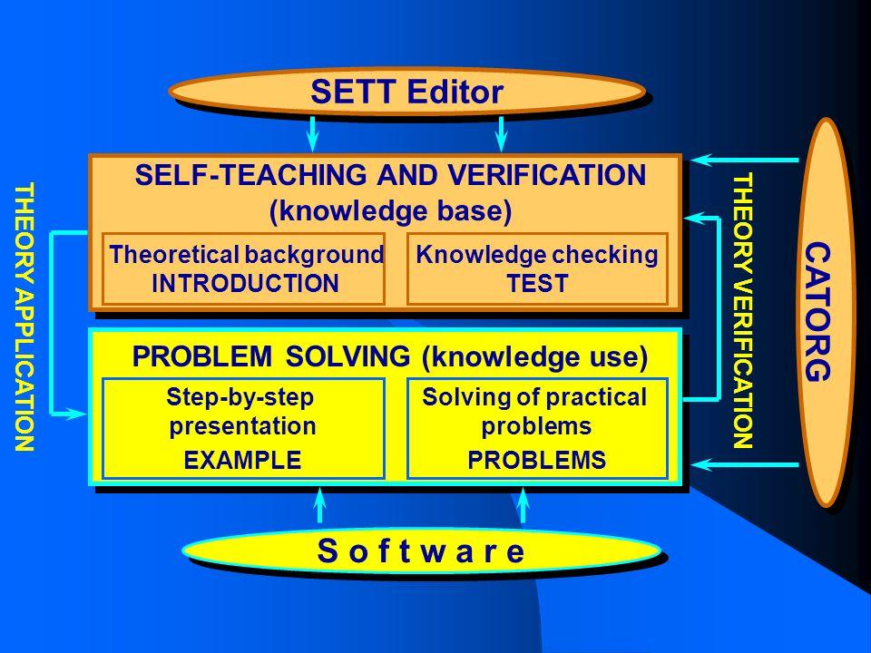 SETT Editor CATORG S o f t w a r e