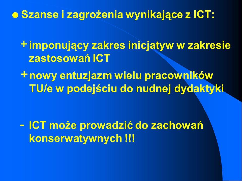 Szanse i zagrożenia wynikające z ICT:
