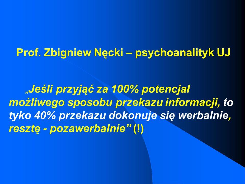 Prof. Zbigniew Nęcki – psychoanalityk UJ