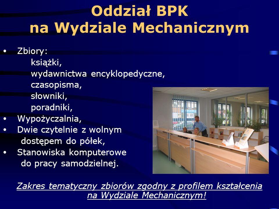 Oddział BPK na Wydziale Mechanicznym