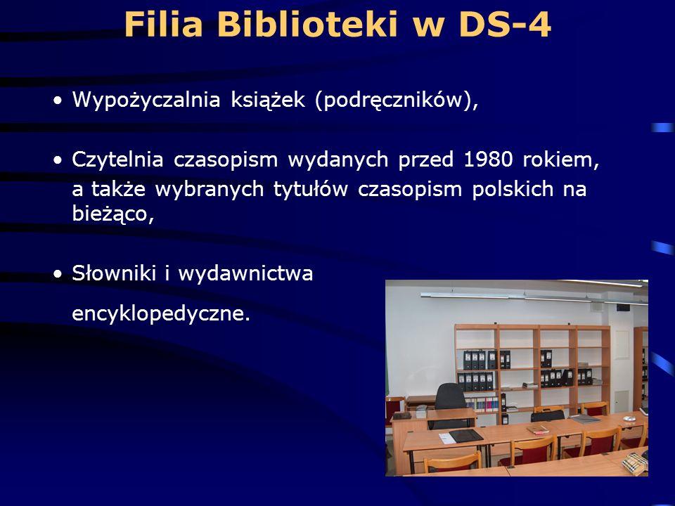 Filia Biblioteki w DS-4 Wypożyczalnia książek (podręczników),