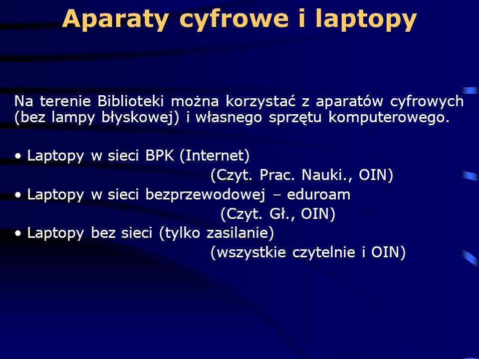 Aparaty cyfrowe i laptopy