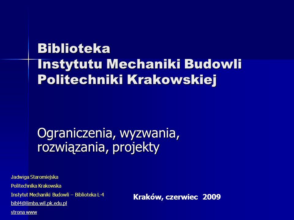 Biblioteka Instytutu Mechaniki Budowli Politechniki Krakowskiej