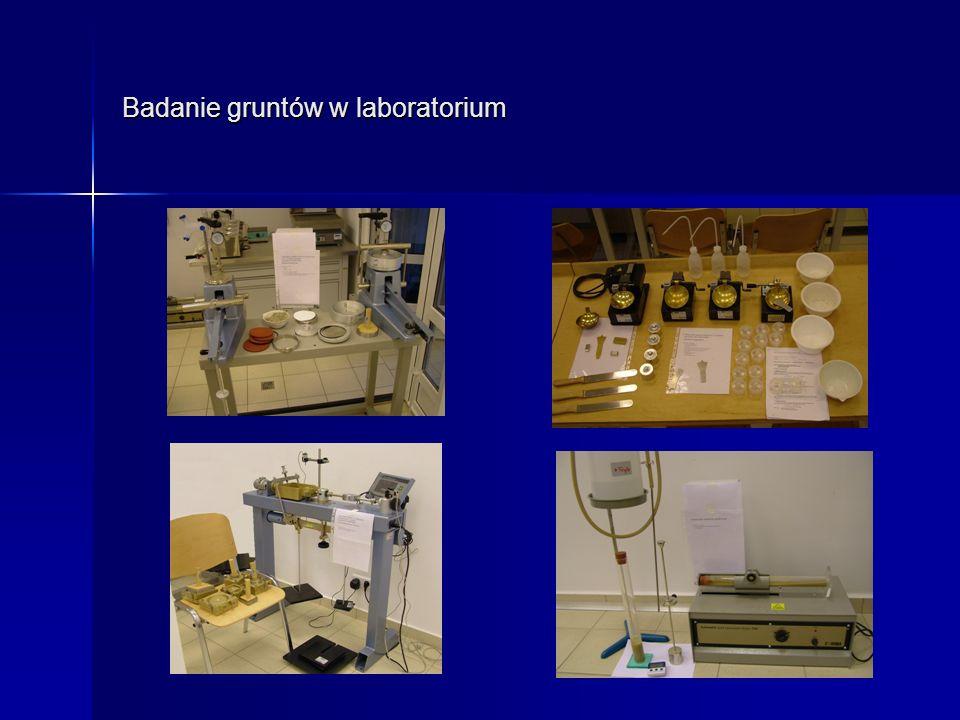 Badanie gruntów w laboratorium